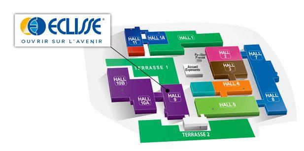 ECLISSE Hall 9 Stand D33 au salon Artibat à Rennes.