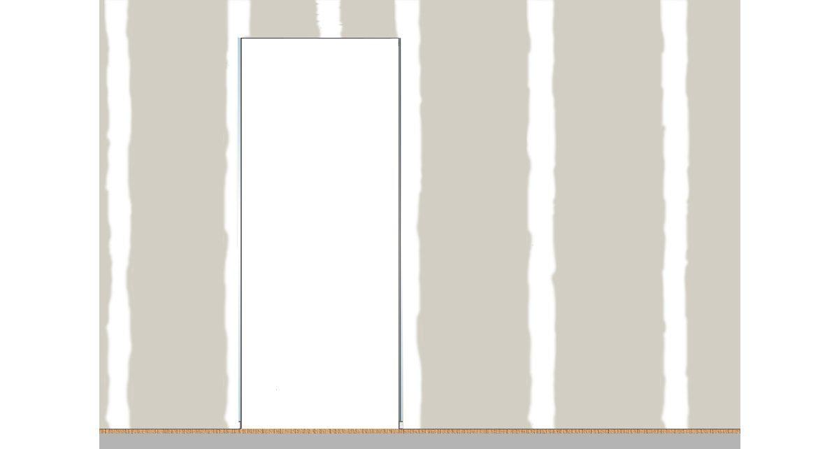 Entretoises et cales en polystyrène retirées du châssis pour porte coulissante