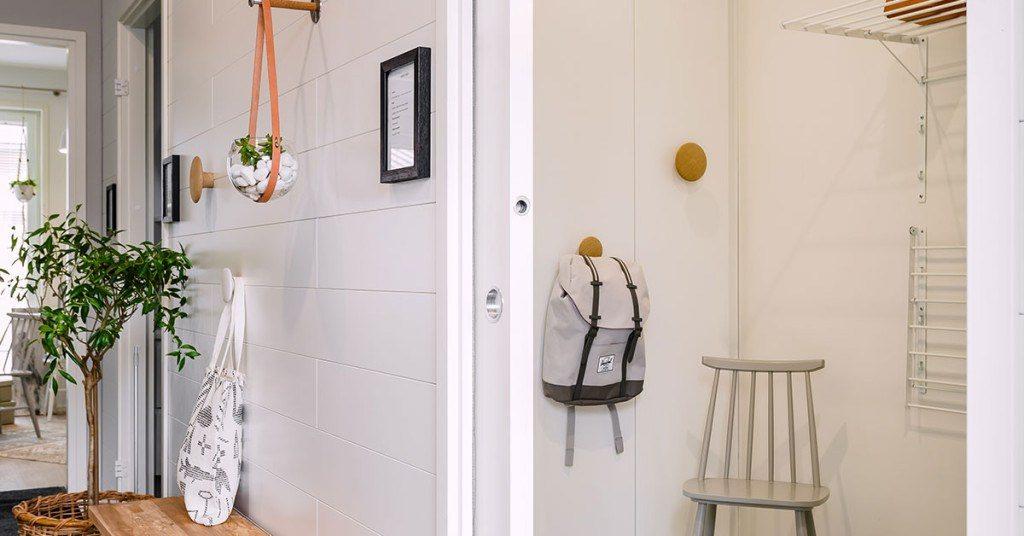 Système coulissant dans le couloir de la maison Hartman koti Ruutu
