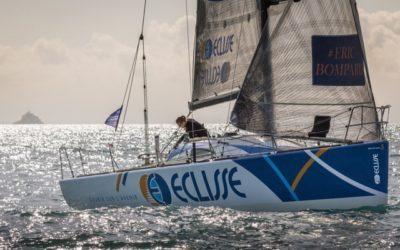 Cécile Laguette, skipper Figaro Benéteau, aux couleurs d'Eclisse