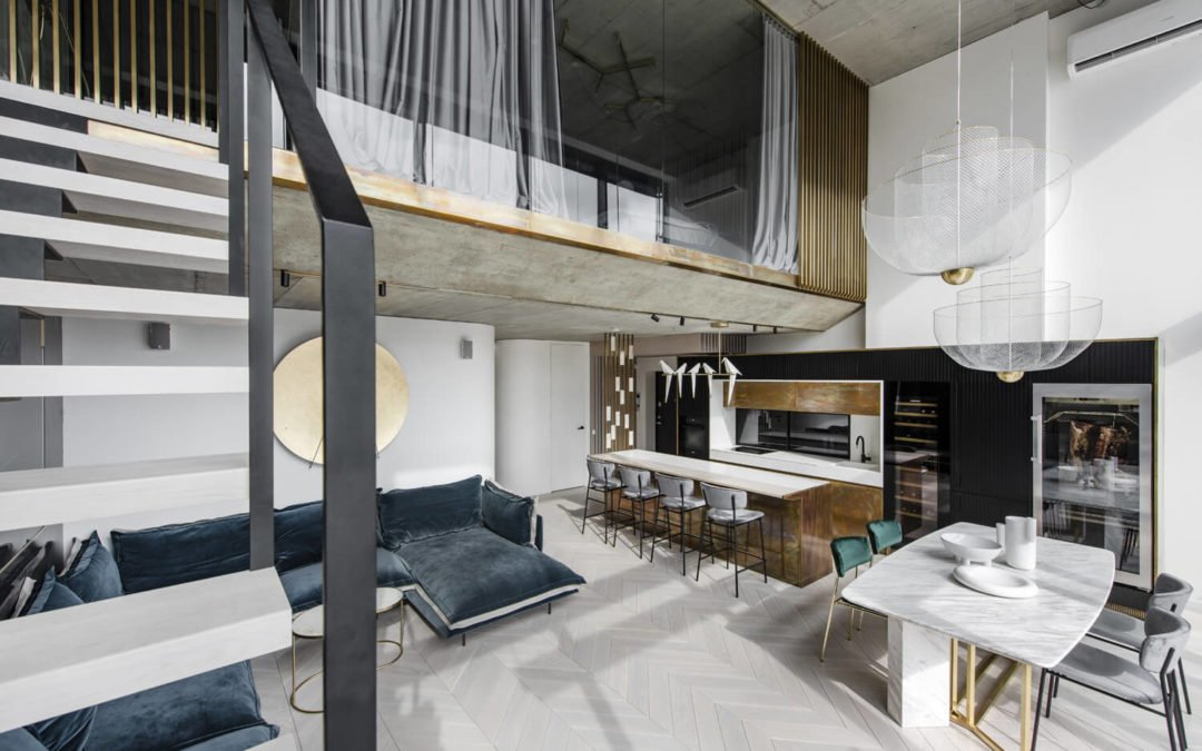 Un appartement industriel chic dans le centre de Vilnius